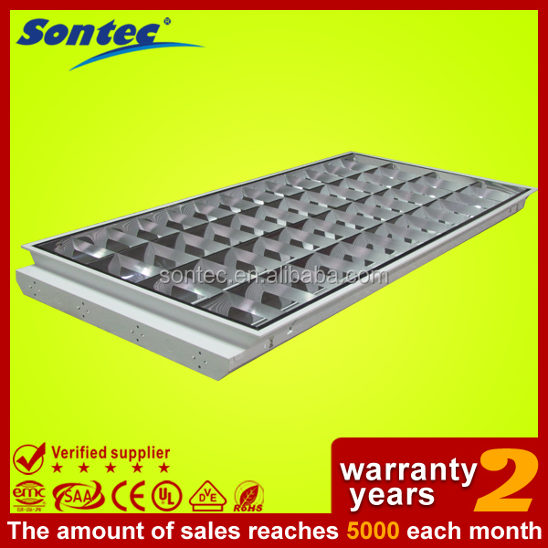 UL approved fluorescent lighting fixture T8 T5 ceiling troffer louver light grille light 4X20W 3X36W T8