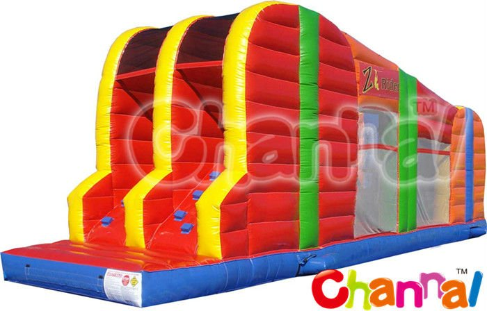 Zip Line Inflatable Sport Game/Interactive Games with Zip Line