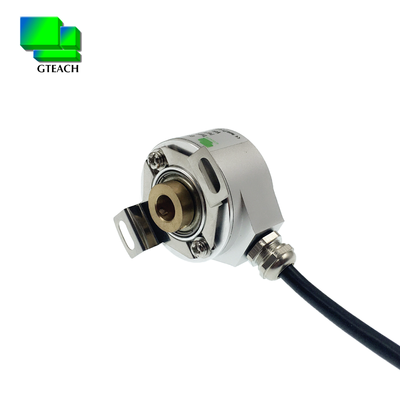 mini rotary encoder thickness 21mm hollow shaft 8mm half empty type incremental rotary encoder patented product