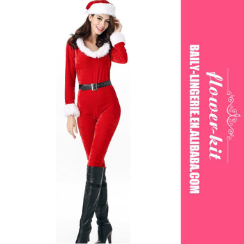 Latest Design Red Zipper Long Sleeve Adult Christmas Sexy Santa Women Catsuit Costume  sc 1 st  Wholesale Alibaba & Latest Design Red Zipper Long Sleeve Adult Christmas Sexy Santa ...