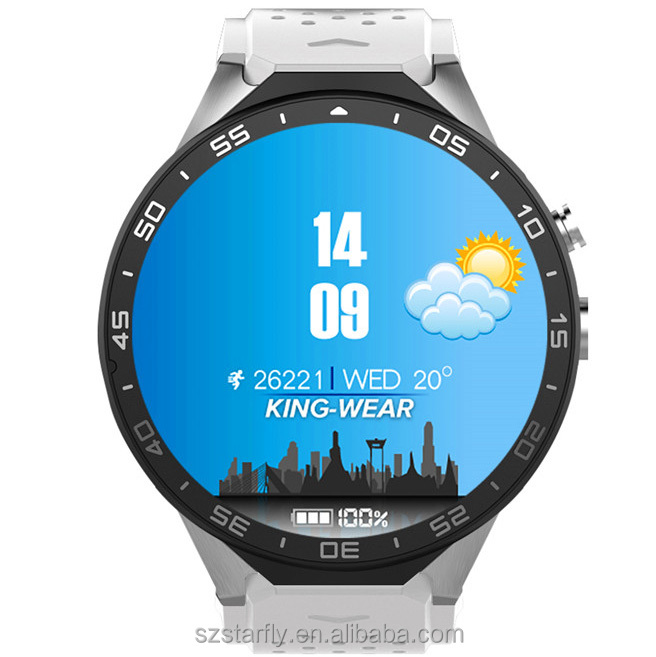 Shenzhen Factory Offering Best Price of Smart Watch Phone KW88, Wholesale Android Smart Watch With Heart Rate Monitor GPS WIFI