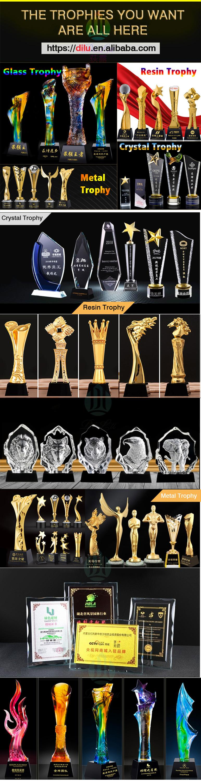 Pujiang Wholesale 3D engrave UV Colour Printing logo blank round crystal Diamond crystal crafts medal crystal award trophy