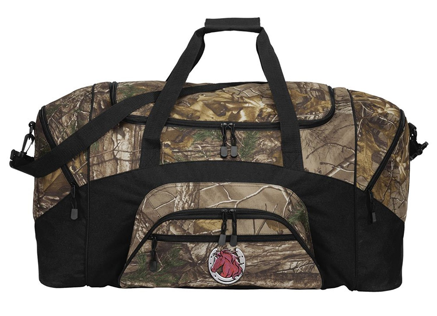 4f1e117e7c Get Quotations · RealTree Camo Horse Design Duffel Bag Or Camo Horse Theme Gym  Bag