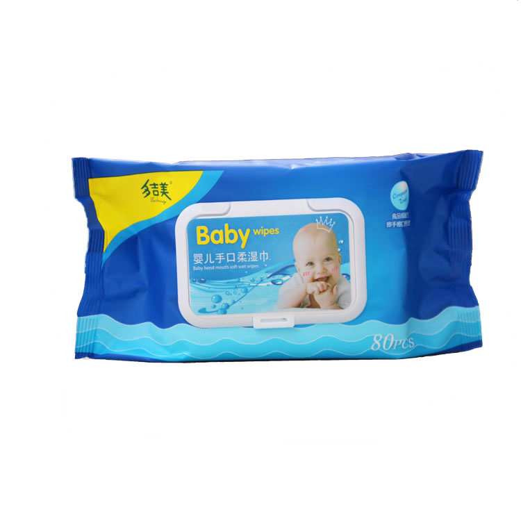 OEM non-woven fabric baby wet wipes manufacturer with chamomile & aloe