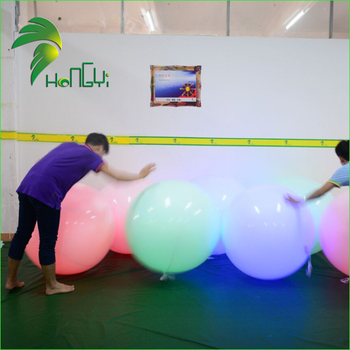 Inflatable LED Lighting Outdoor Entertainments Interactive Ball / Flashing Led Light Up Balloons
