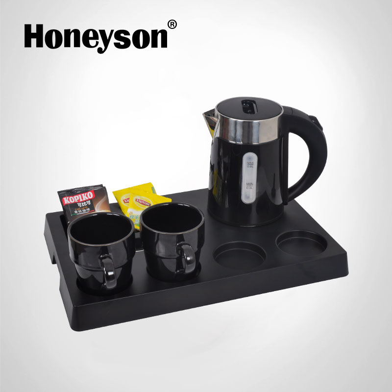 Honeyson new top hotel appliance 0.6 litre electric kettle set