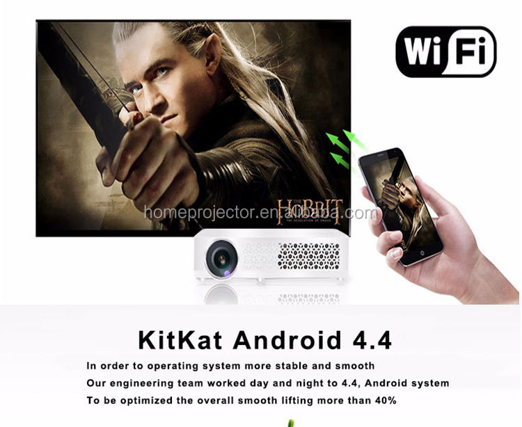 china market of 4.4 version android wifi electronic hologram projector with 200 big inches
