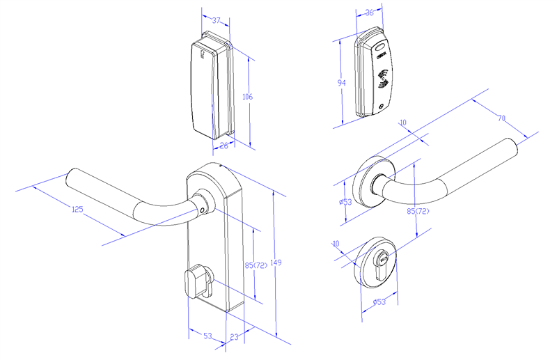 Electric Aluminum Door Mortise Lock For Hotels With Card Open