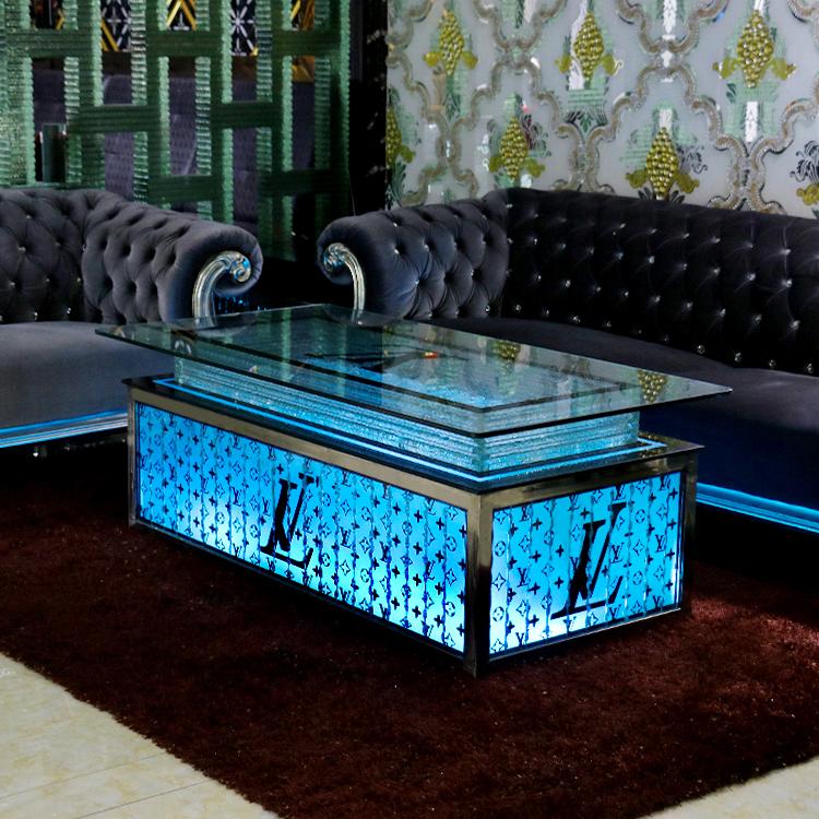 Bar furniture set / led light up bar table