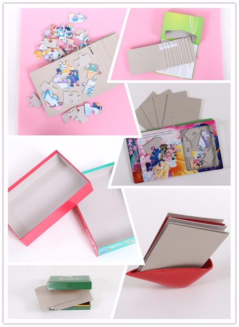 Grey Album Cardboard Art Paper Texture Bright Rough: Recycle Laminated Duplex Grey Paper Board For Wrapping Box