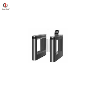 Access control facial recognition swing flap barrier with rfid card/fingerprint reader