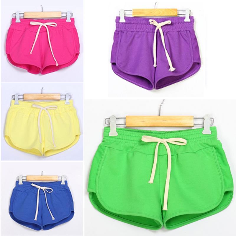 2015 горячая распродажа причинно лето конфеты цвет женщины шорты с низкой талией хлопка спортивные шорты feminino DRES # 70596