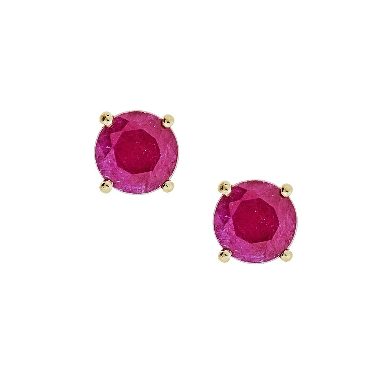 Get Quotations Gin And Grace 10k Yellow Gold Indian Ruby Stud Earrings For Women