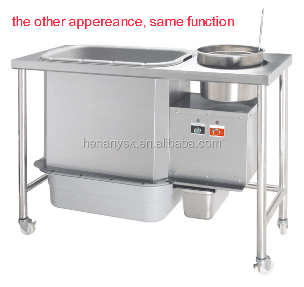 WYN-832  Stainless Steel Frying Chicken Meat Burger Potato Chips Mixing Shrink Wrapping Powder Coating Table Oiled Food KFC Equipment Machine