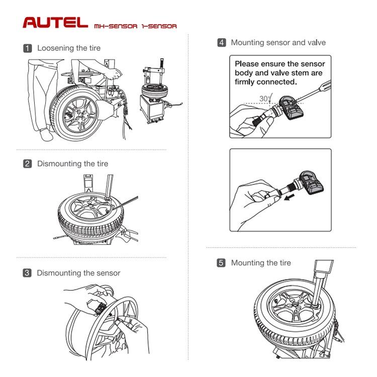 New Arrival Autel TPMS Tire Pressure MX Sensor 1 Sensor Works 315MHZ 433MHZ