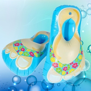 Best Selling Inflatable walk on water shoes pvc air blowing shoes toy shoes