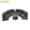 Audu commercial modern rattan round sofa bed