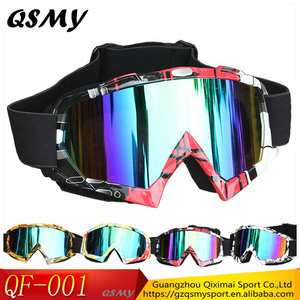 Fashional Durable Colorfull TPU Frame and Polycarbonate Lenses Soft straps Safty Material Motorcycle MX goggles