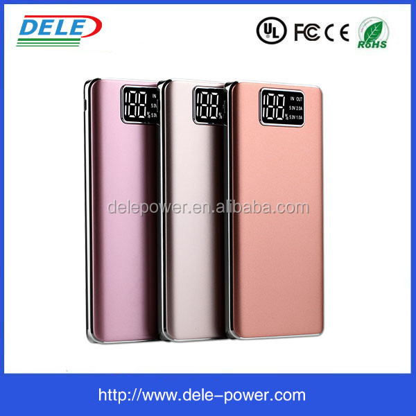 High quality 10000 mah portable powerbank with lcd display and light,power bank circuit board