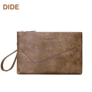 DIDE Brand PU Leather Big Clutch Bags Wristlet Organizer Wallet For Business Handbag