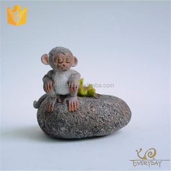 Cute Resin Custom Outdoor Monkey Garden Statues ,Wholesale Polyresin Monkey  Figurines