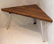 Teck bois coin de douche si ge de banc autres meubles for Banc teck douche