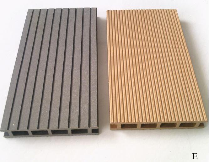 Grooved Wood Grain Outdoor Wpc Decking For Swimming Pool Tongue And Groove Composite Portable Plastic Dock Product On