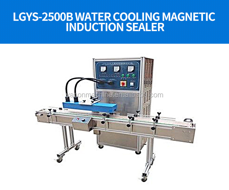 LGYS-2500B  Continuous Aluminum Foil bottle Magnetic Induction Sealer Yason