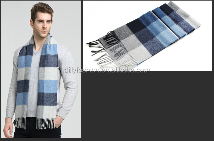 Neues Design Winter Herren Schal Strickmuster Kaschmir Schal ...