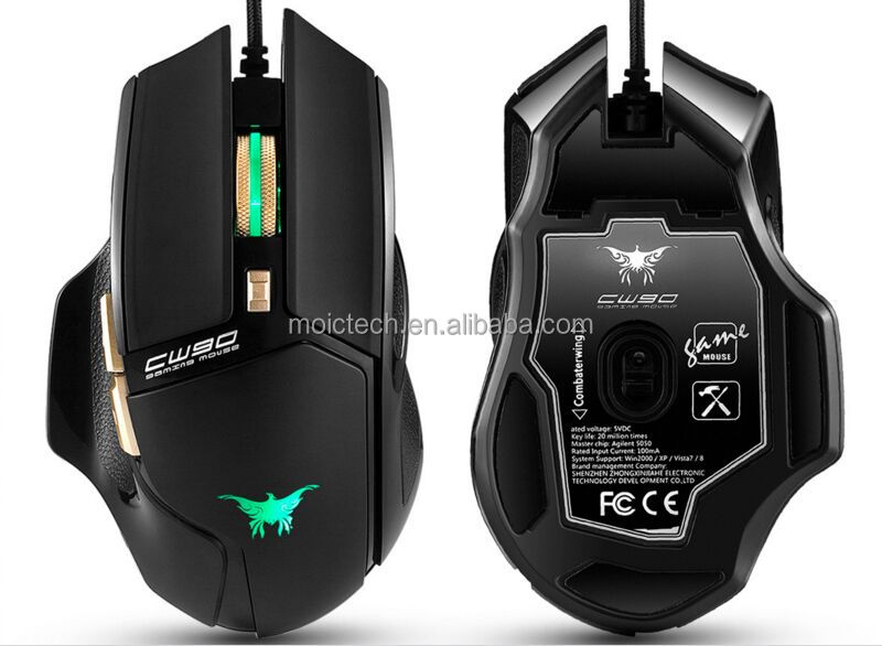 2017 3800 DPI Optical Ergonomic Wired Gaming Mouse 6 Buttons With LED China Factory Quick Delivery Gold Supplier