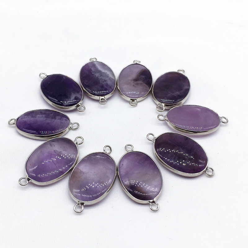 <strong>Nature</strong> stone Necklace <strong>Pendant</strong> Rose Quartz <strong>Amethyst</strong> Tiger eye Metal rimmed <strong>pendant</strong> Charms Gift 100% <strong>Nature</strong> Pink Purple