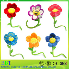 Plush artificial flower with Bendable Stems Big Smile Face Flower for weeding