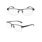hot half frame mental material unisex clear lens reading glasses