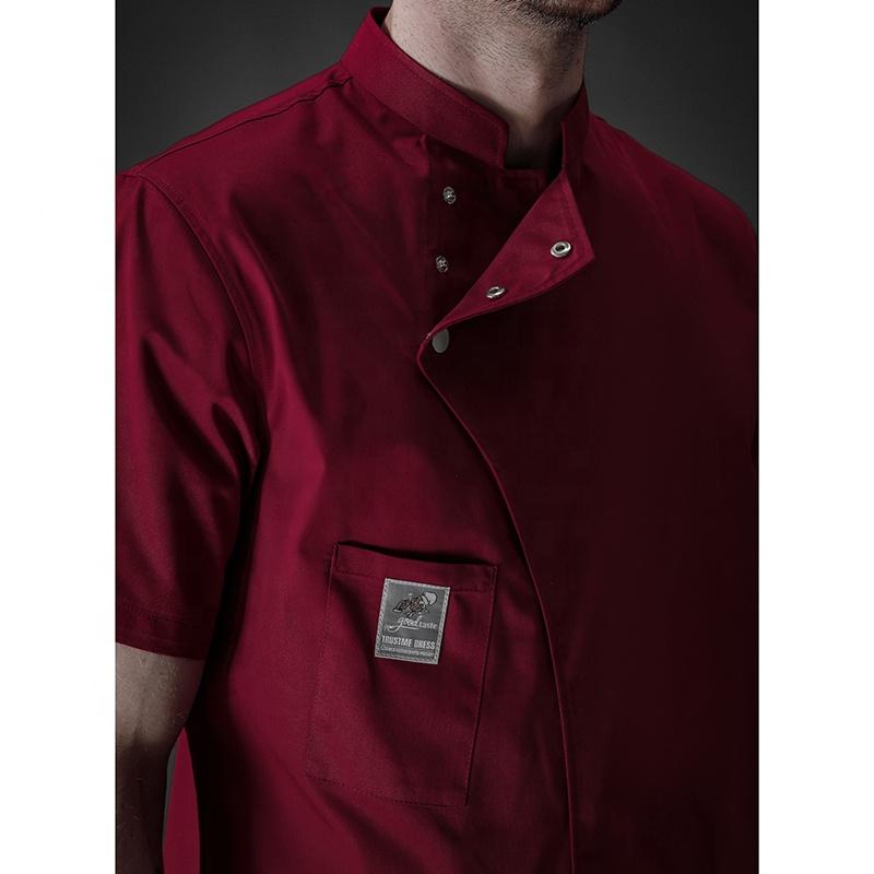 Polyester Cotton fabric kitchen chef coat hotel uniform jacket,chef uniform hotel staff