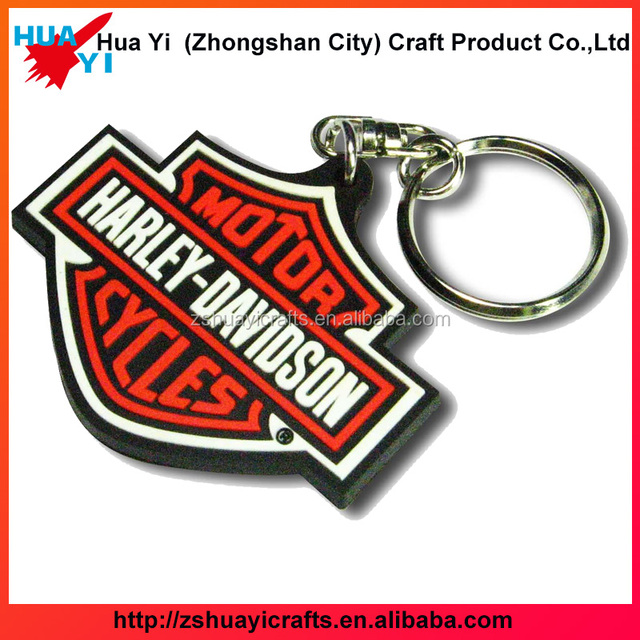 Customized Soft PVC key ring plastic button logo name keychains