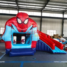 Spiderman grossistes <span class=keywords><strong>enfants</strong></span> pas cher Videur <span class=keywords><strong>gonflable</strong></span> Sautant sauteur Rebond Château <span class=keywords><strong>Gonflable</strong></span> combo toboggan à vendre