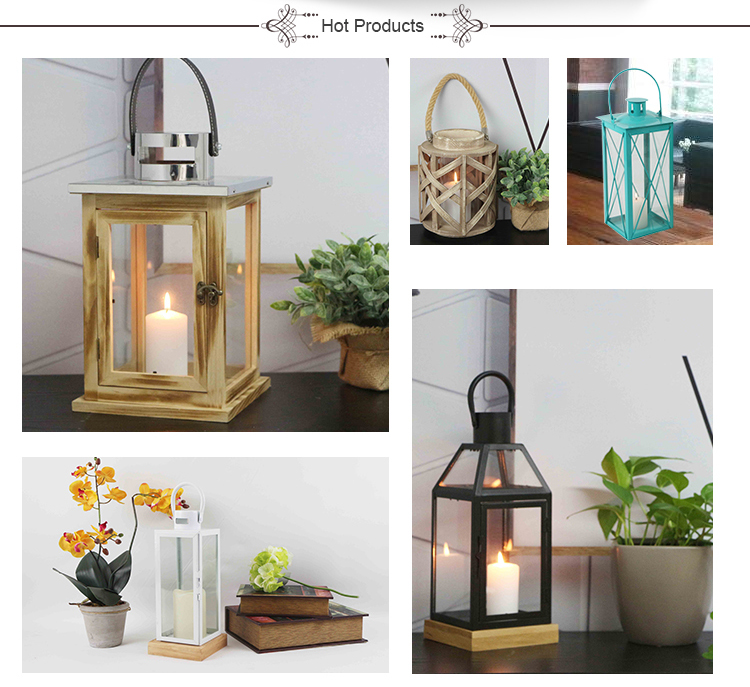 Home Metal Stainless Steel Candle Lantern With Glass Pane