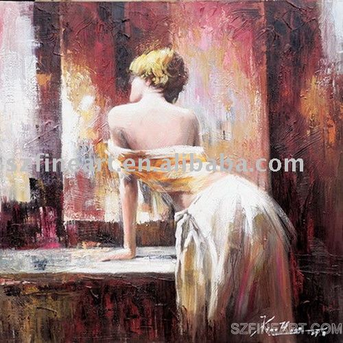 Sexy woman oil painting of hot and modern woman with new design