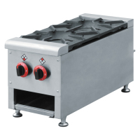 Chinese Restaurant Equipment 2 Burner Table Top Gas Stove, Open Gas Burner Range