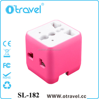 Portable UK US AU to EU European 2 PIN Power Socket Plug Adapter Travel Converter