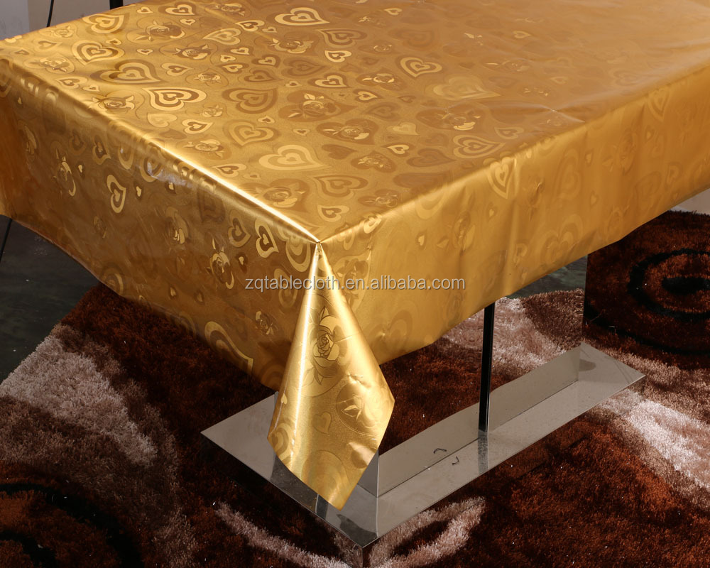 Gold Vinyl Tablecloth, Gold Vinyl Tablecloth Suppliers And Manufacturers At  Alibaba.com