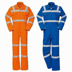 Poly Cotton Safety Coverall Used For Industrial Workwear working coverall
