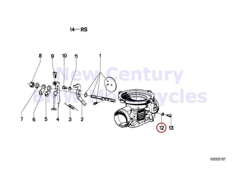 BMW Genuine Motorcycle Carburetor/Throttle Control Gasket Ring R100/7T R100/T R100CS R100RS R100RT R100S R75/6 R90/6 R75/7