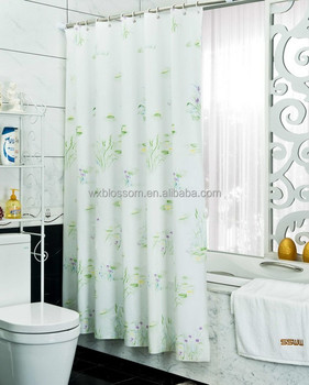 New Pattern And Special Frosted Pvc Folding Shower Curtain