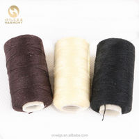 HARMONY Black Brown Blonde 100m-110m small roll cotton hair weaving thread for sewing and crochet hair extensions