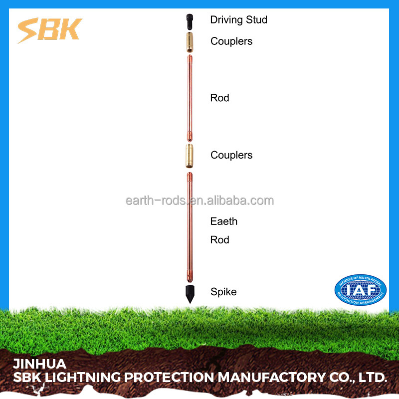 SBK Copper Ground Rod For Earthing Equipment