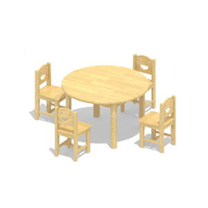 Kindergarten Study Round Table Children School Furniture Study Table And Chair