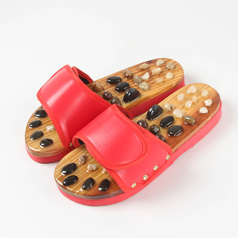 Wholesale Hot Sale Unisex Fashionable Style Improve Sleeping Blood Circulation Stone Therapy House Slippers Foot Massage Shoes