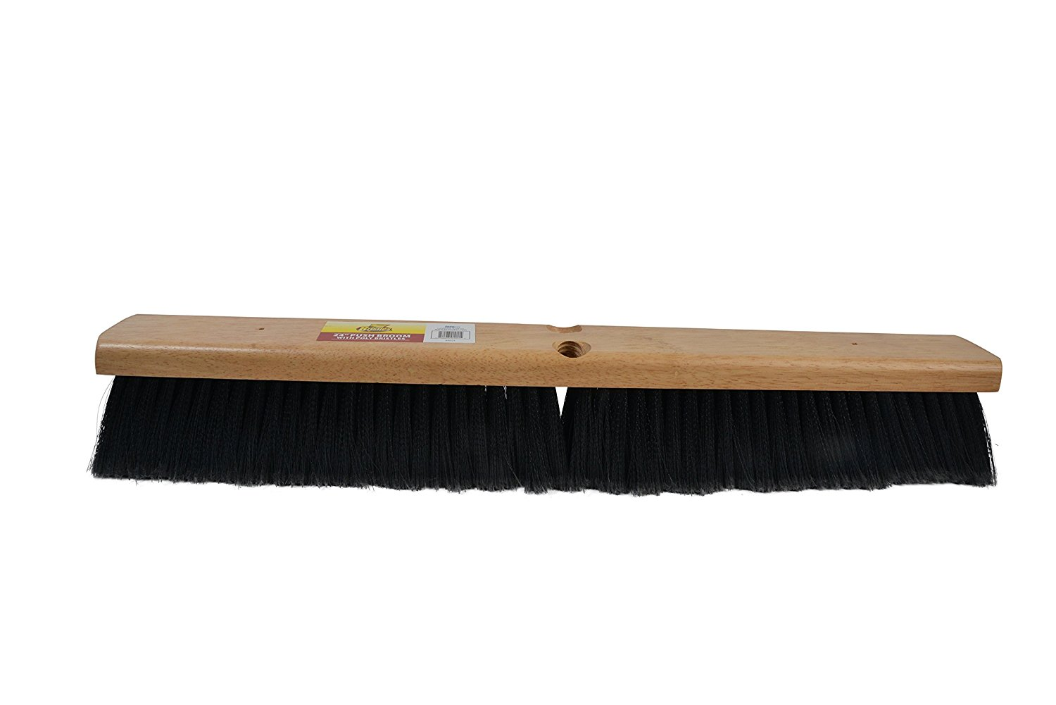 Janico 4024 Bristles 24 Inch Indoor Surface Push Broom with Polypropylene Bristles, Brown