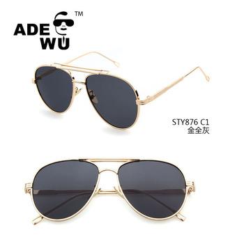 Ade Wu 2017 Retro Oversized Pilot Glasses Frames Italian Eyewear For ...